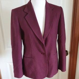 PENDLETON high quality wool maroon burgundy blazer